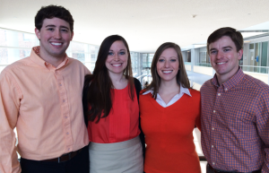 Deloitte MBA team (left to right): Daniel Conrad, Sarah Womack, Rachel Hylton, and Whit Shofner