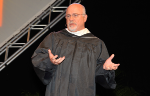 Personal money-management expert and national radio personality Dave Ramsey at the College of Business Administration's Spring 2014 commencement ceremony.